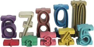 WISSNER® aktiv lernen - 34 Stapelzahlen in Montessori Farben aus RE-Wood