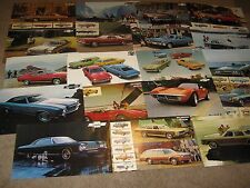 1971, 72, 73 Chevrolet Dealer Sales Brochure Lot (18) Camaro, Corvette, Chevelle