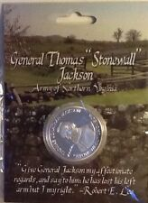 CIVIL WAR CSA CONFEDERATE GENERAL STONEWALL JACKSON SILVER COLOR COIN 27176