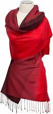 Schal Rot Wolle Seide scarf wool silk Farbverlauf Ombre Bordeaux