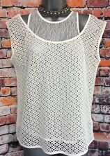 NEW NEXT 6 ladies teens white lace 2 in 1 sleeveless longline tunic top