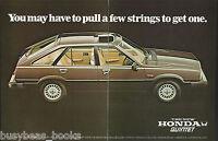 1981 HONDA QUINTET 2-page advertisement, British advert, Honda 4-door hatchback