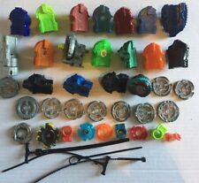Lot of 44 Beyblade Cords Launchers-Fusion Wheels-Energy Ring-Tip-Bolt-Tool