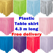 Plastic Table Skirt Cover Birthdays Weddings Baby Showers Party Supplies