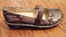 Alegria Feliz womens black gray patent snake skin mary jane shoes EU 41 US 10.5