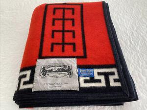 Vintage Pendleton Wool Beaver State Red Navajo Blanket Limited Edition VGUC