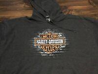 Harley Davidson Bar & Shield Pullover Gray Hoodie NWT Men's 4XL