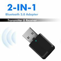 Bluetooth 5.0 Audio Transmitter Receiver USB 3.5mm Jack Stereo Wireless Adapter