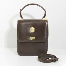 SPLENDID KIESELSTEIN CORD CHOCOLATE SHARKSKIN GOLD ALLIGATOR HEAD TROPHY SATCHEL