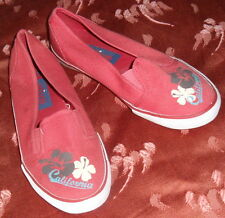 CHAUSSURES PLATES TOILE ROUGE ALIVE P 34 NEUVES