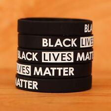 100 Black Lives Matter Wristbands - Silicone Awareness Wrist Band Bracelets