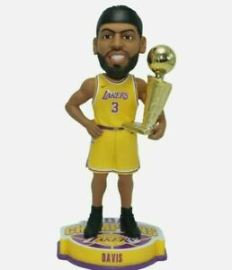 ANTHONY DAVIS LAKERS CHAMPIONSHIP BOBBLEHEAD WITH TROPHY NBA NEW IN BOX