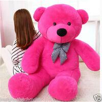 (80cm-180cm)giant Bow Tie Big Cute Plush Stuffed Teddy Bear Soft 100% Cotton Toy