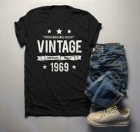 Men's 50th Birthday T Shirt Original Vintage Shirt Awesome Since 1969 Gift Idea