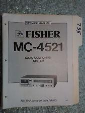 Fisher MC-4521 service manual original repair book stereo receiver tape deck