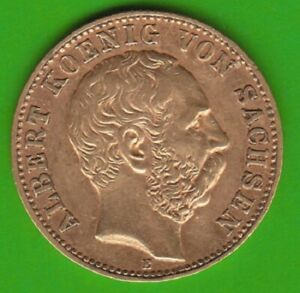 GOLD Sachsen 10 Mark 1898 in ss-vz nswleipzig