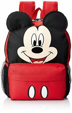 """12"""" Disney Mickey Mouse Face Medium School Backpack with Ears"""