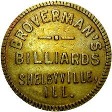 Shelbyville Illinois Good For Token Broverman's Billiards Pool