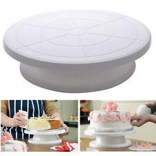 Cake Stand Plastic Pedestal Plate Cake Making Rotary Decorative Platform