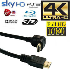 10m HDMI Right Angled Gold Plated Cable Ethernet Lead HDTV 1080P PS3/4 SKY 3D 4K