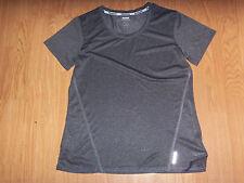 Nw/Ot Reebok Women's Short Sleeve Exercise Shirt-Color-Dk. Gray-Size-Med.