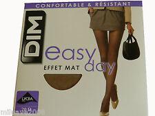 2 medias Panty Tigths Collant DIM 4/xl 20D efecto mate confort resistente piel