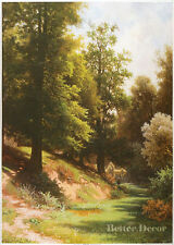 "28"" PRINT Forest,1874 by Kamenev ANTIQUE MUSEUM ART"
