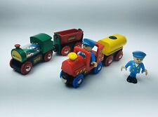 Authentic Brio Train Cargo Conductor Set 7p Lot Compatible W/ Thomas Imaginarium