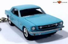 RARE KEY CHAIN 1964 ½ 1965 BLUE FORD MUSTANG GT COUPE 64 ½ 65/66 LIMITED EDITION