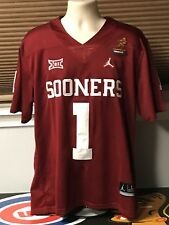 Oklahoma Sooners #1 Kyler Murray Heisman Trophy Jersey Stitched Red X Large