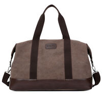 Vintage Retro Men Canvas Duffle Weekend Bag Lightweight Luggage Gym Holdall Bags