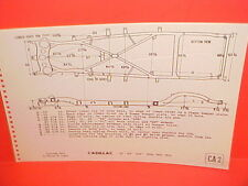 1950 1951 1952 CADILLAC 61 62 CONVERTIBLE 60 SPECIAL SEDAN FRAME DIMENSION CHART