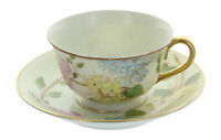 Vintage Ohata China Occupied Japan Floral Pattern Gold Trim Tea Cup & Saucer