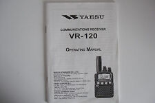 YAESU VR-120 (GENUINE OPERATING MANUAL ONLY).............RADIO_TRADER_IRELAND.