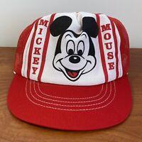 Mickey Mouse Trucker Hat Mesh Cap Snapback Vintage 80s Disney World USA Men Rare