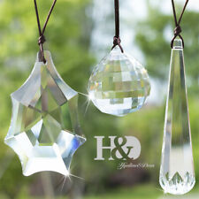 Handmade Clear Crystal Hanging Prism Pendants Window Suncatcher for Gift Pack 3