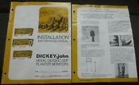 Dickey-john Dj0 Dj0C Dj0P Planter Monitor Installation Operating Manual IH 400