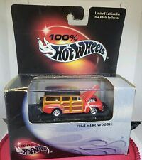 100% hot wheels 1948 MERC WOODIE - Red~Black  1:64