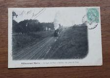 CPA Villiers-sur-Marne Train Ligne Paris à Belfort 1907