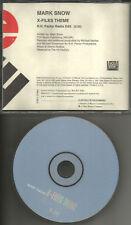 MARK SNOW X files Theme w/RARE R.H. FACTOR EDIT PROMO DJ CD Single USA 1998 MINT