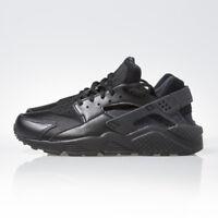 Nike Air Huarache Run Triple Black Womens Running Shoes Sneakers 634835 012 New