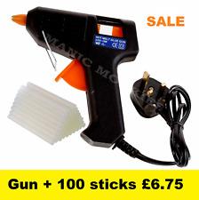 Hot Melt Glue Gun Electric Trigger Adhesive Hobby Craft DIY 100 FREE Glue Sticks