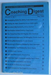 "May 1989 Vol. 16 No. 1 ""American Baseball Coaches Association Quarterly Digest"""