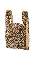 50 Qty 11 x 21 Leopard Print Plastic Merchandise Shopping Bags w/Handles