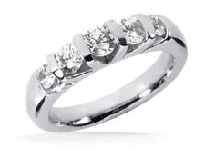 Wedding Band F color Si1 clarity 1 carat Anniversary Round Diamond ring