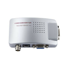 VGA to BNC S-Video Converter Box Adapter Coaxial Video Out