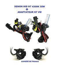 ADAPTATEUR + AMPOULES VW GOLF 6 XENON HID H7 35W 4300K NEUF
