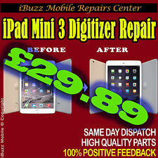 Apple iPad Mini 3 BROKEN TOP GLASS SCREEN LENS TOUCH REPLACEMENT REPAIR SERVICE