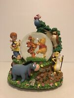 Pooh Hundred Acre Wood Musical Snowglobe by Disney Globe Winnie the Pooh Rare