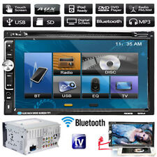 "Double Din 7"" In Dash Stereo Car DVD CD Player Bluetooth TV Radio iPod SD/USB FM"
